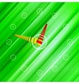 Background green clock vector image