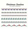 Christmas Borders Set of Christmas Seamless vector image