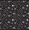 doodle space seamless pattern cute hand drawn vector image