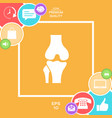 knee joint icon vector image