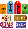 Vintage baggage tags vector image