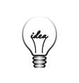 idea symbol light lamp sign icon vector image