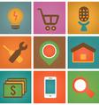 Retro social media icons for design - part 2 vector image