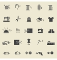 Sewing icons vector image vector image
