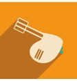 Flat with shadow icon and mobile applacation mixer vector image