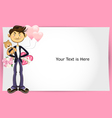 valentine boy greeting card vector image