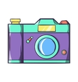 Retro hipster photo camera icon cartoon style vector image vector image