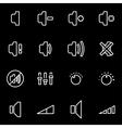line speaker icon set vector image