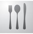 Cutlery gray vector image