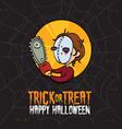 Halloween Trick or Treat Killer Costume vector image
