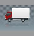 isometric cargo truck transportation on vector image