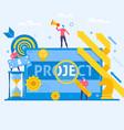 Project management business multitasking concept vector image