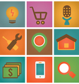 Retro social media icons for design - part 2 vector image
