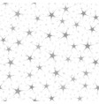 seamless pattern with gray neuron-like stars and vector image
