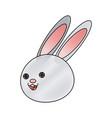 cute cartoon rabbit wildlife animal speed vector image