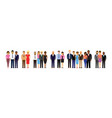 people in a line vector image vector image