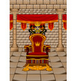 throne room vector image vector image