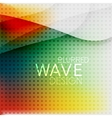 Colorful blurred wave business background vector image vector image