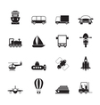 Silhouette Transportation and shipment icons vector image vector image