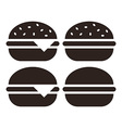 Hamburger icon set vector image