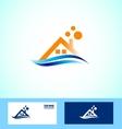 Real estate house icon logo vector image