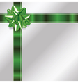 Green Christmas Present Bow and Ribbon Background vector image vector image