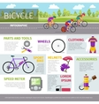 Bicycle infographic template in flat style vector image