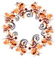 Graphic swirl frame vector image
