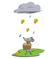 Rain for mouse vector image