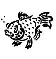 Tattoo of fish vector image