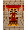 throne room vector image