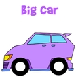 Collection of big car art vector image