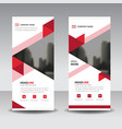 red triange business roll up banner flat design vector image
