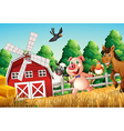 Happy farm animals vector image vector image