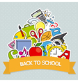 Back to School Card vector image vector image