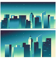 abstract city landscape in bright gradient colors vector image