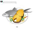 Bangladeshi Salted and Fried Ilish Fish vector image