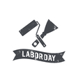 for Labour Day with paint roller vector image