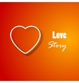 Romantic background with heart for your designs vector image
