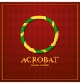 Acrobat logo circus design vector image