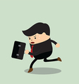 Businessman in a rush hour vector image