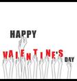 creative valentines day banner or sticker design vector image