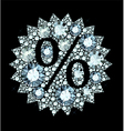 diamond Sale sign vector image