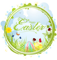Happy easter border background vector image