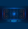 Hockey stadium on top vector image