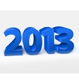 New year 2013 shiny 3d blue vector image