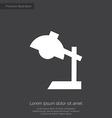 reading-lamp premium icon white on dark background vector image