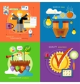Search Ideas Competitor Analysis Identity vector image