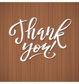 Thank You Card Calligraphic Inscription Ink vector image