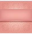 Decorative pink ornament vector image
